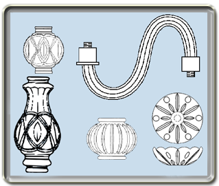Lamp Parts, Lighting Parts, Lamp Glass and Chandelier parts