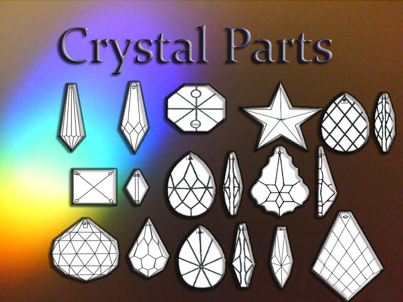 CRYSTAL PARTS FOR CHANDELIER – Crystal Chandelier Replacement Parts