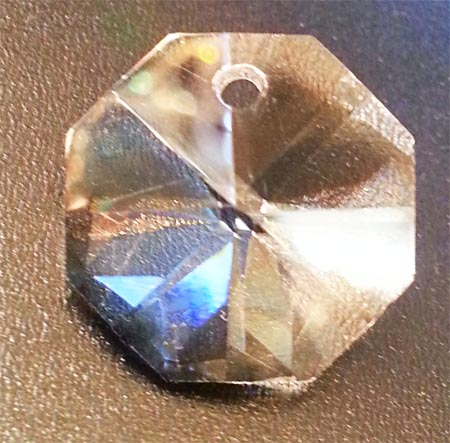 Clear 14mm Octagon One Hole