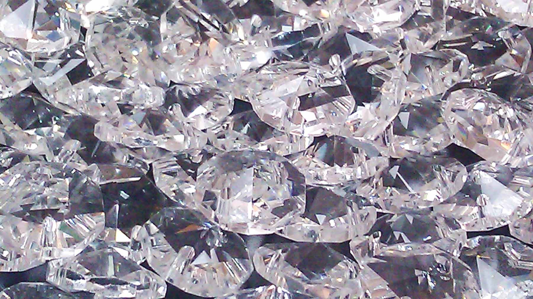 100 Pcs Clear 14mm Octagon