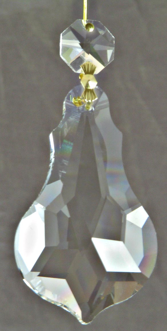 "Clear Crystal Violin Shape 2.5"" with Octagon"