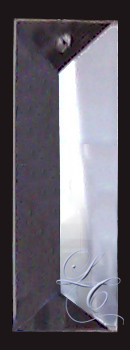 Clear Rectangular colonial Crystal 3""