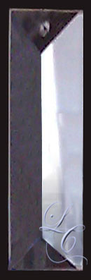 Clear Rectangular colonial Crystal 4""