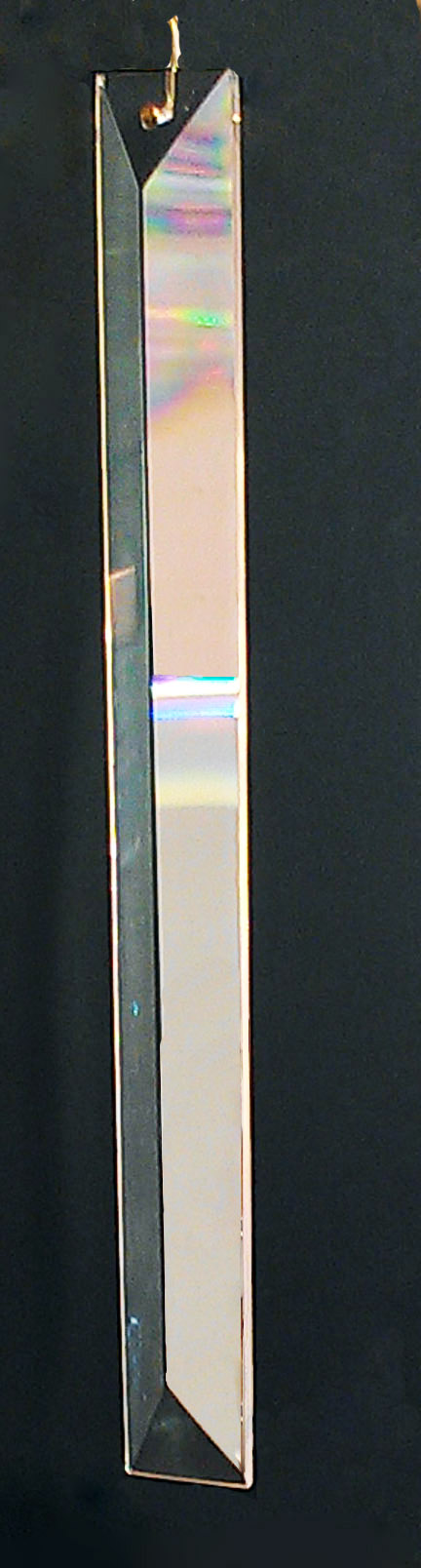 Clear Rectangular colonial Crystal 8""