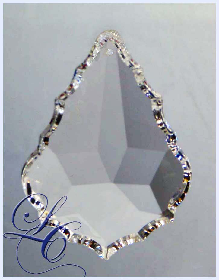 Clear French Cut Crystal 38mm