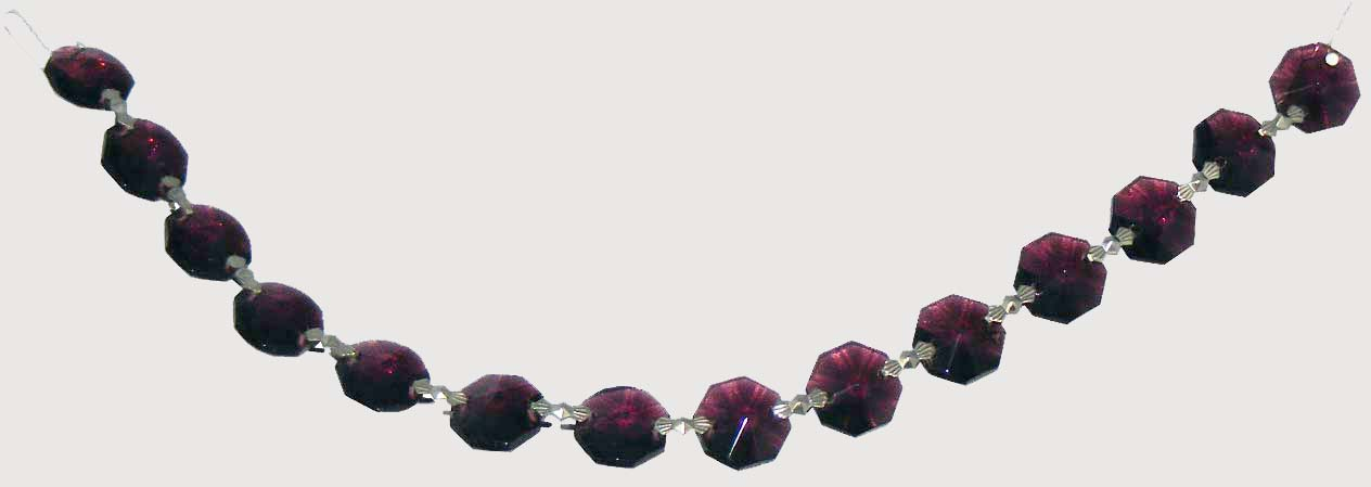 "Amethyst Chain 14mm Octagon 8"" BT"