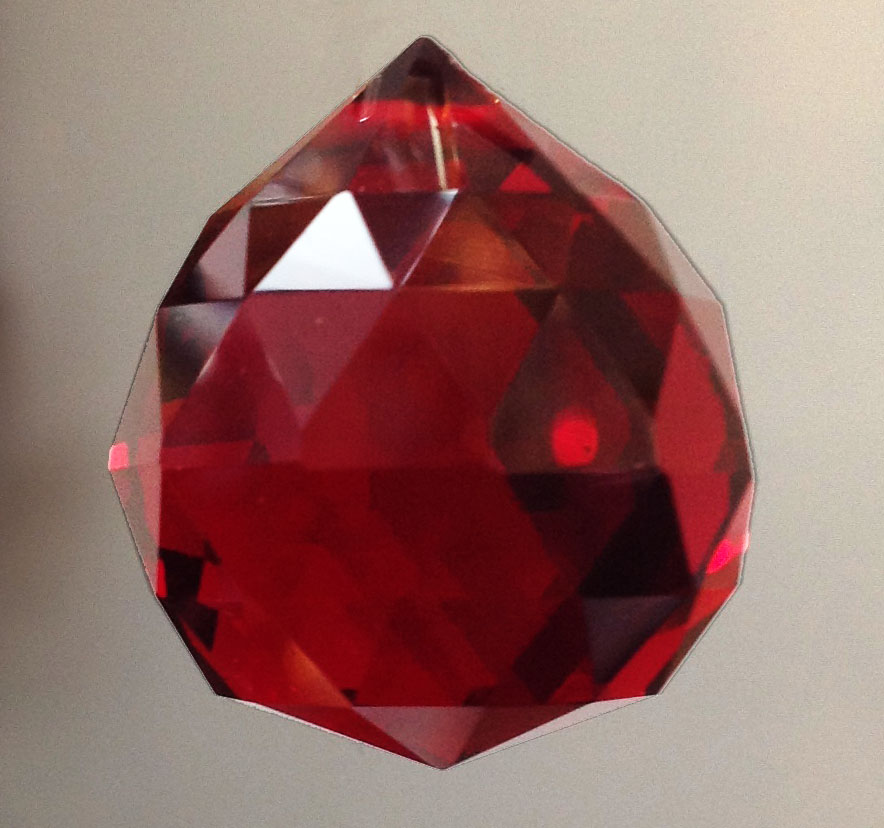RUBY Crystal Ball 3 cm