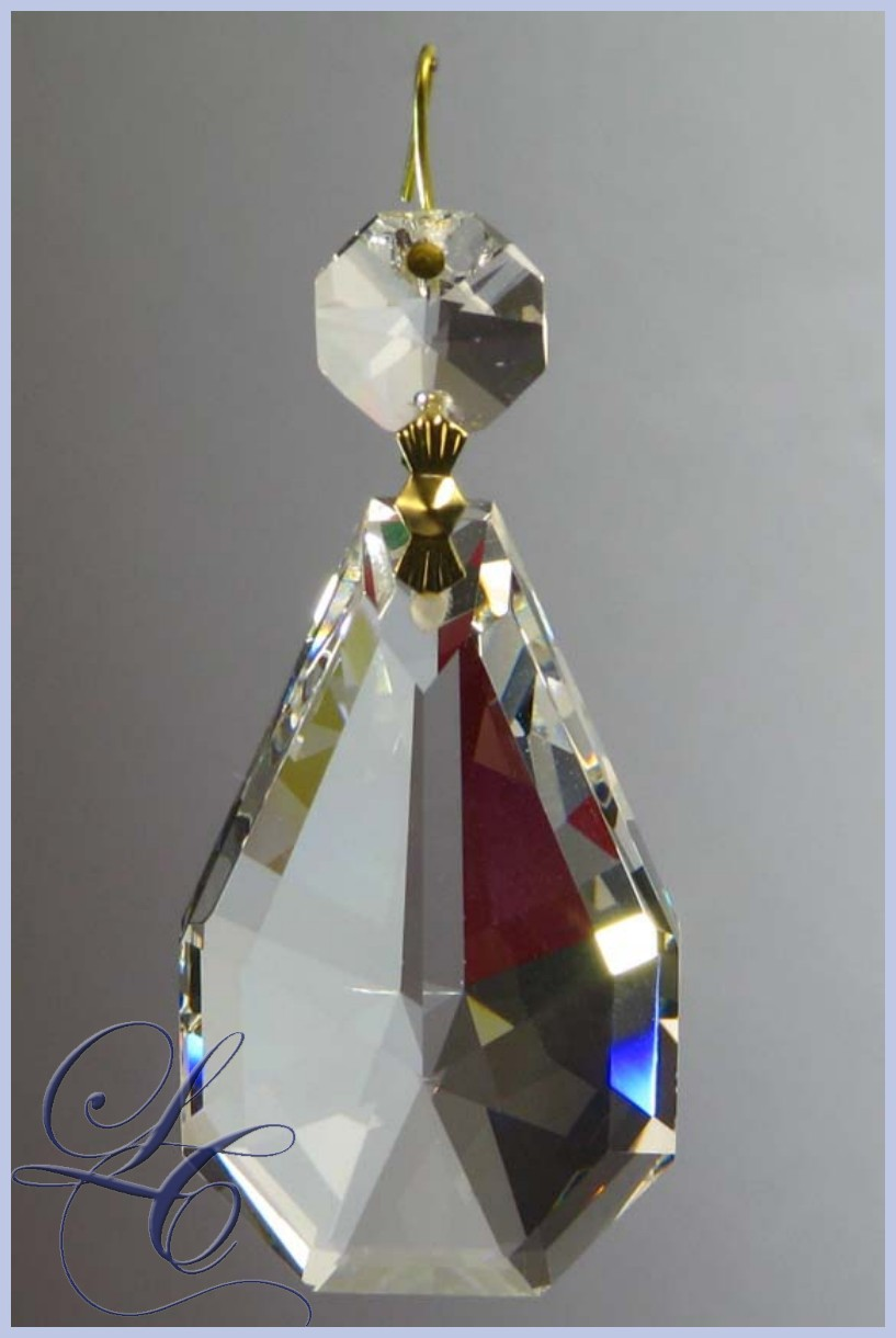 Almond Crystal jewel 50mm with Octagon