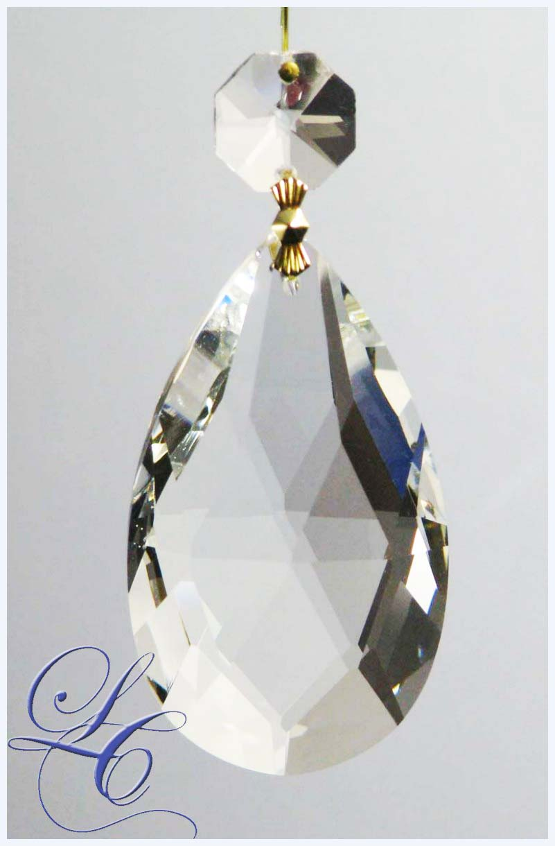 Clear Crystal Drop Pearshape 3""