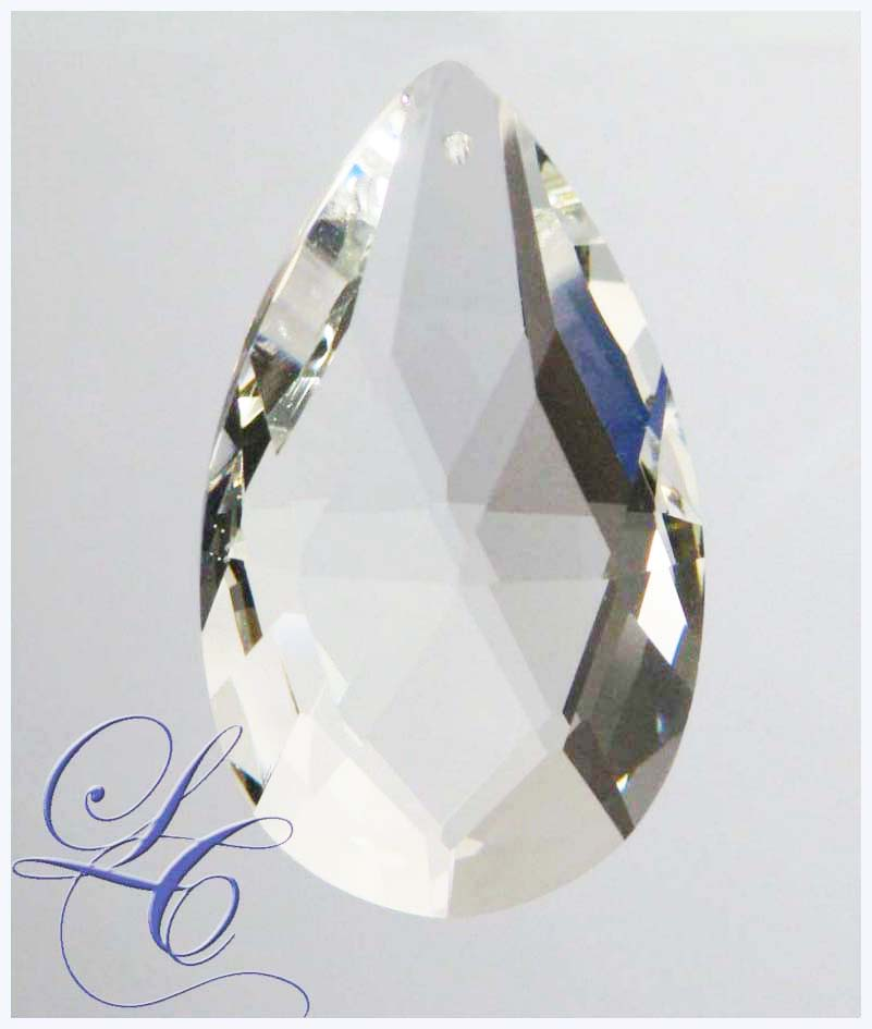 Clear Crystal Drop Pearshape 2.5""