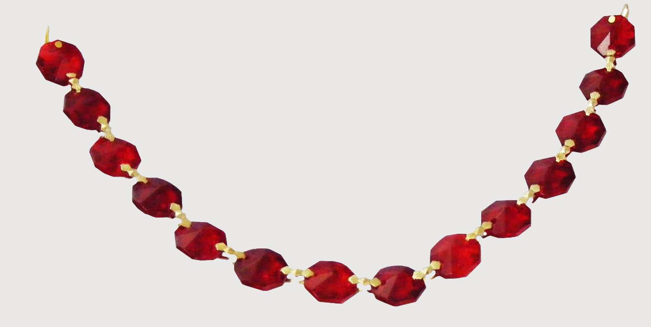 "Ruby Chain 14 mm Octagon 8"" BT"