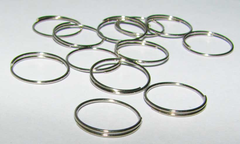 50 x Chrome Ring 10 mm