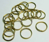40 x Gold Tone Ring 8 mm