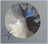 Faceted Crystal Disk 1 Hole - 45 mm