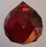 Small RUBY Crystal Ball 2 cm