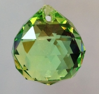 Small Peridot Crystal Ball 2 cm