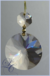 Faceted Crystal Disk 45mm with Octagon