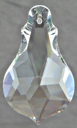 Clear Crystal Violin Shape 2""