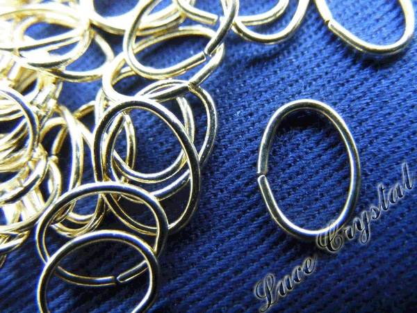 45 X Loops Oval Gold