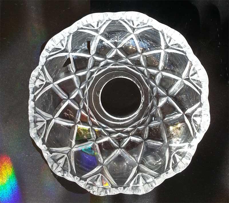 Bobeche 10 Cm With 7/8 Center Hole [BOB_STAR_10_7/8_4H